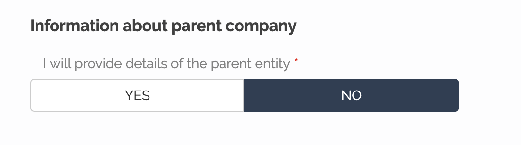 Information about parent company